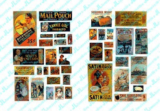 JL Innovative Design HO 1890-20's Turn of the Century Posters/Signs #2 (40)