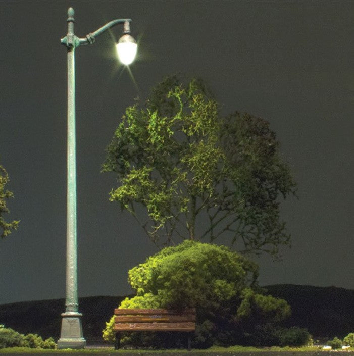 Woodland Scenics HO Just Plug: Arched Cast Iron-Type Street Lights (3)