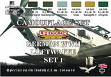 Lifecolor Acrylic German WWII Luftwaffe #1 Camouflage Acrylic Set #1 (6 22ml Bottles)