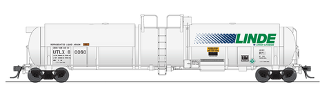 Broadway Limited HO High-Capacity Cryogenic Tank Car 2-Pack - RTR - Linde (White, Blue, Green)