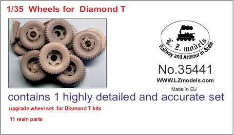 LZ Models 1/35 Diamond T Wheels for MZZ (Resin) Kit
