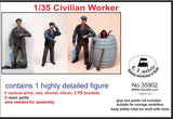 LZ Models 1/35 Civilian Worker w/Accessories (Resin) Kit