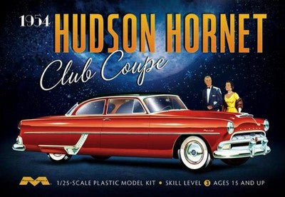 Moebius Model Cars 1/25 1954 Hudson Hornet Club Coupe Car Kit
