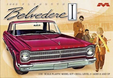 Moebius Model Cars 1/25 1965 Plymouth Belvedere Car Kit