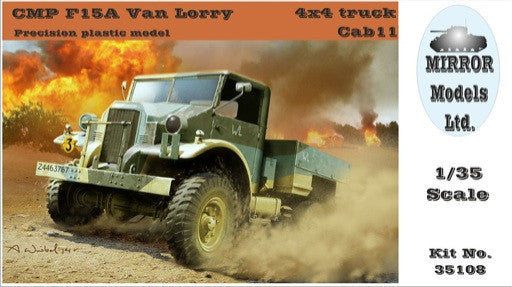 Mirror Models Military 1/35 CMP F15A Cab 11 Van Lorry 4x4 Truck Kit