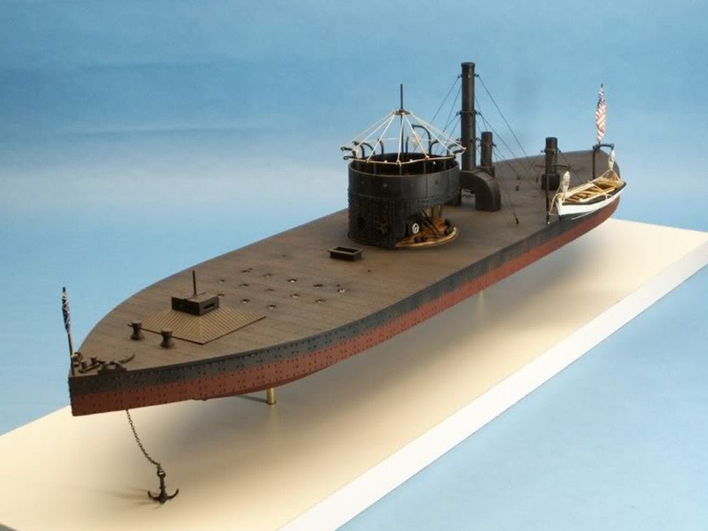 Cottage Industry Ships 1/96 USS Monitor John Ericssion's Cheesebox on a Raft Union Ironclad Warship Resin Kit