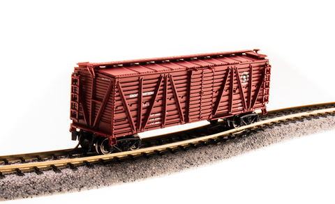Broadway Limited N PRR K7 Stock Car with Sheep Sounds - Ready to Run - Great Northern (Red, Small Rocky Logo)