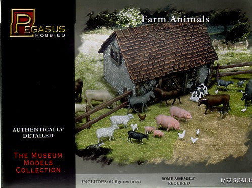 Pegasus Military 1/72 Farm Animals (64)