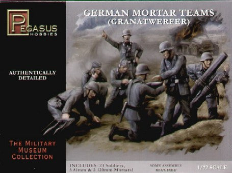 Pegasus Military 1/72 German Mortar Team (23)