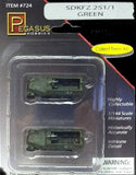 Pegasus Military 1/144 SdKfz 251/1 Halftrack (Green Camouflage) (2) (Assembled)