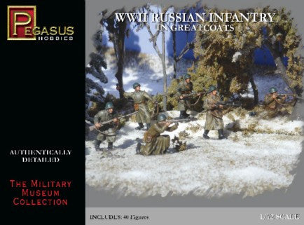 Pegasus Military 1/72 Russian Infantry Greatcoats WWII (40)