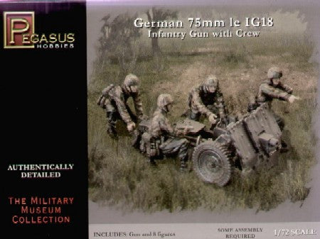 Pegasus Military 1/72 German 75mm le IG18 Infantry Gun Kit
