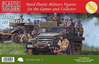 Plastic Soldier 1/72 WWII Allied M3 Halftrack (3) Kit
