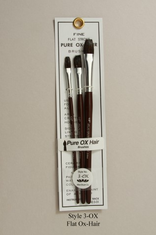 Atlas Brush Co. 3-OX Flat Ox Hair Set 3 Pieces