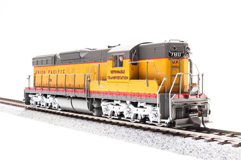 Broadway Limited HO EMD SD7 - Sound and DCC - Paragon3 - Union Pacific 450 (Armour Yellow, Gray, Red, Dependable Transportation Slogan)