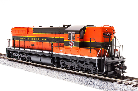 Broadway Limited HO EMD SD9, GN 580, Simplified Empire Builder, Paragon3 Sound/DC/DCC