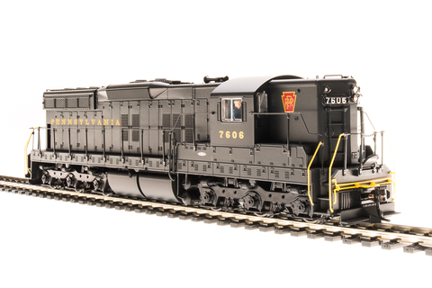 Broadway Limited HO EMD SD7 - Sound and DCC - Paragon3 - Pennsylvania Railroad 8589 (Brunswick Green, Red Keystone)