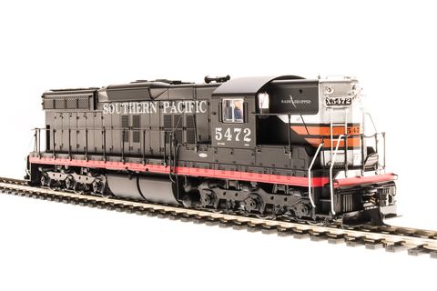 Broadway Limited HO EMD SD7 - Sound and DCC - Paragon3 - Southern Pacific 5325 (Black Widow, Black, Red, Silver, Orange)