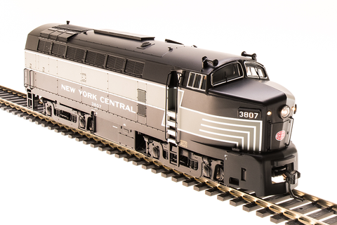 Broadway Limited HO NYC Sharknose A-Unit, #3809, Lightning Stripes, Paragon3 Sound/DC/DCC