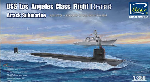 Riich Model Ships 1/350 USS Los Angeles Class Flight I (688) Attack Submarine Kit
