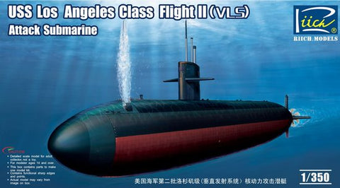 Riich Model Ships 1/350 USS Los Angeles Class Flight II (VLS) Attack Submarine Kit