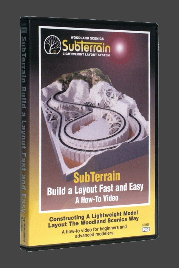 Woodland Scenics SubTerrain: Build A Layout Fast and Easy DVD