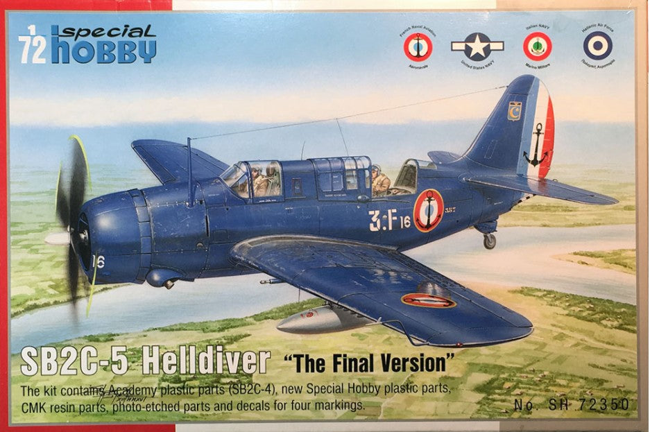 Special Hobby Aircraft 1/72 SB2C5 Helldiver The Final Version Dive Bomber Kit