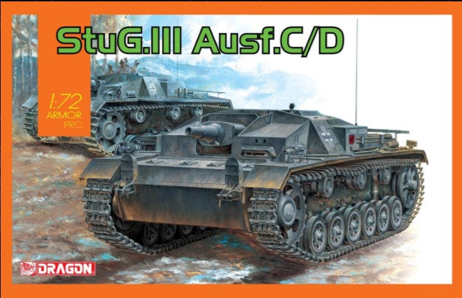 Dragon Military Models 1/72 StuG III Ausf C/D Tank Kit