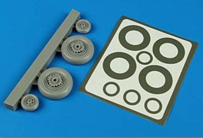 Aires Hobby Details 1/48 S2F Tracker Wheels & Paint Masks For KIN