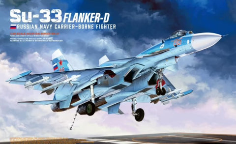 Minibase Hobby 1/48 Su33 Flanker D Russian Navy Carrier-Borne Fighter (New Tool) Kit