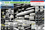 Dragon Model Ships 1/350 USS Independence CVL22 Aircraft Carrier Kit
