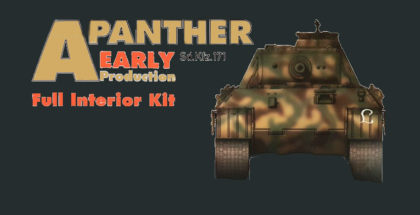 Takom Military 1/35 WWII SdKfz 171 Panther A Early Production German Medium Tank w/Full Interior (New Tool) Kit