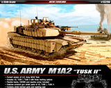 Academy Military 1/35 M1A2 Tusk II US Army Tank (3 in 1) Kit