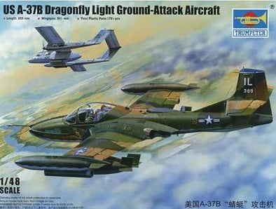 Trumpeter Aircraft 1/48 US A37B Dragonfly Light Ground Attack Aircraft Kit
