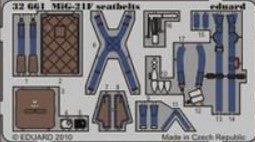 Eduard Details 1/32 Aircraft- Seatbelts MiG21F KM1 for TSM (Painted)