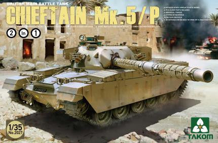 "Takom Military 1/35 British MBT ""Chieftain"" MK.V/P Kit"