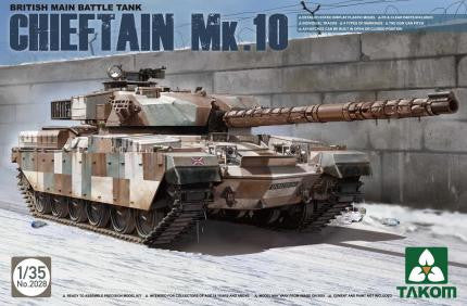 "Takom Military 1/35 British MBT ""Chieftain"" MK.10 Kit"