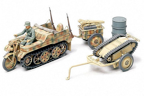 Tamiya Military 1/48 SdKfz 2 Kettenkrad w/Cart & Goliath Demo Vehicle Kit