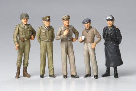 Tamiya Military 1/48 WWII Famous Generals (5 Figures) Kit
