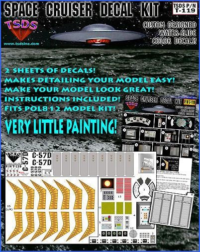 TSDS Decals 1/72 Forbidden Planet C57D Starcruiser Decal Set for PLL