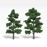 "Woodland Scenics Ready Made Realistic Trees- 6"" - 7"" Med Green (2)"