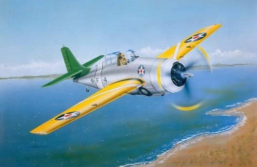 Trumpeter Aircraft 1/32 F4F3 Wildcat Fighter Early Version Kit