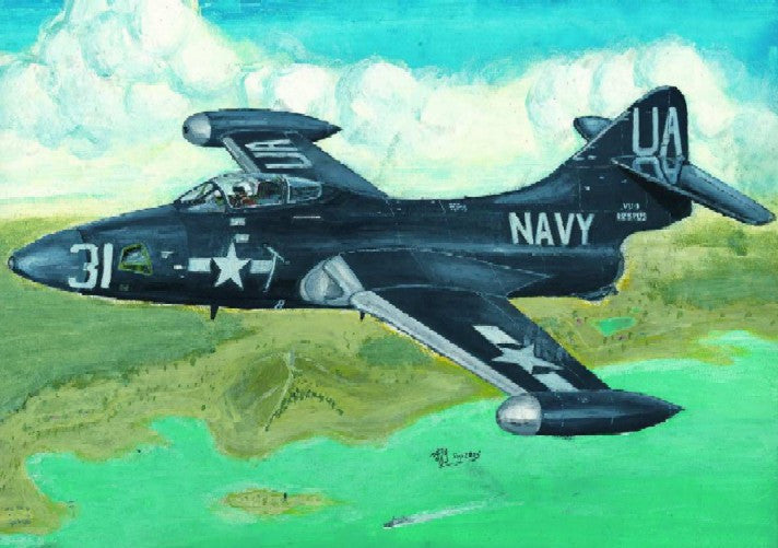 Trumpeter Aircraft 1/48 F9F2P Panther US Navy Fighter Kit