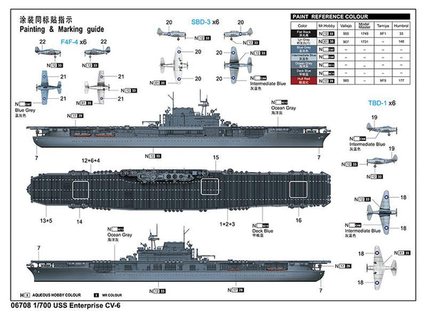 trumpeter ship models 1  700 uss enterprise cv6 aircraft carrier  new t