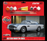Airfix Car Models 	1/32 Aston Martin DB5 Sports Car Medium Starter Set w/Paint & Glue Kit