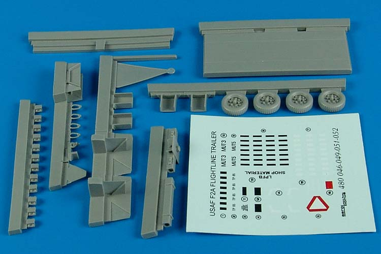 Aerobonus Details 1/48 USAF F2A Flightline Steel-Type Platform Trailer