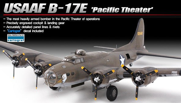 Academy Aircraft 1/72 B17E Pacific Theater USAAF Bomber Special Edition Kit