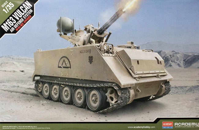 Academy Military 1/35 M163 Vulcan Air Defense System US Army Tank Kit