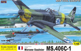 Admiral Models Aircraft 1/48 Morane Saulnier MS406C1 Fighter Kit