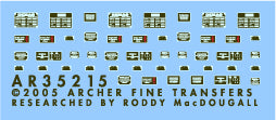 Archer Fine Transfers 1/35 SdKfz 250, 251, 11 & others Interior Placards (Silver & Black)
